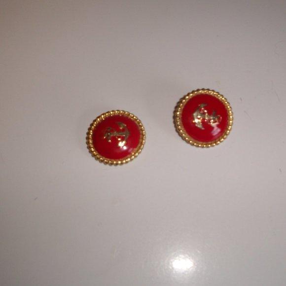 red soutache earrings hoop earrings red red tassel earrings flower tassel red hoop earrings hoop earrings gold hoop clip on earrings